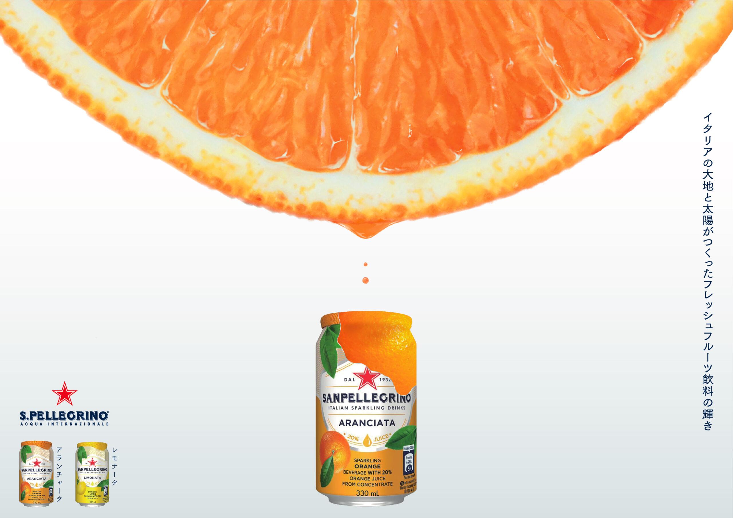 S.Pellegrinoの広告作ってみた (フレッシュオレンジ編)