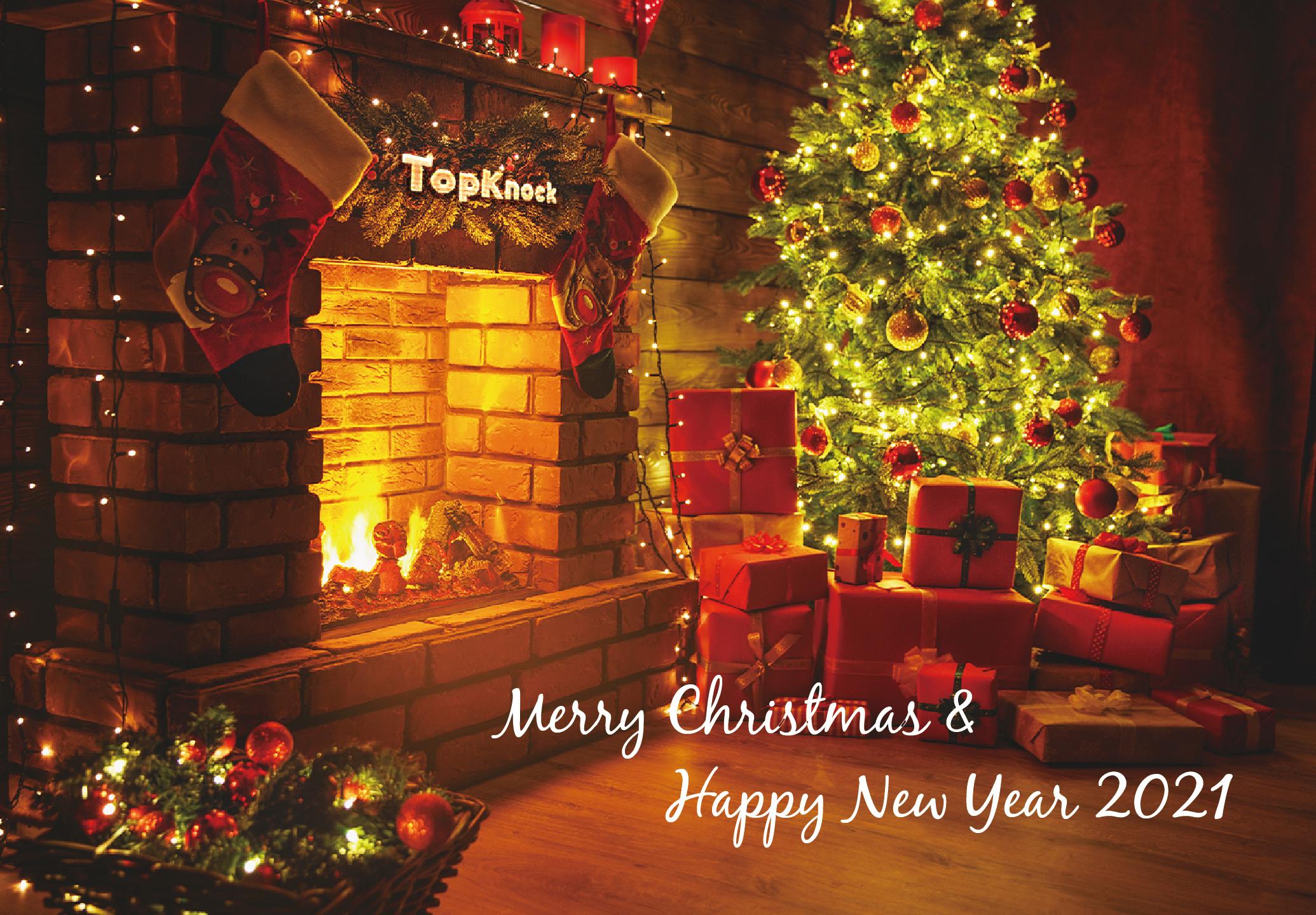クリスマスカードつくってみた(炎を囲む編)
